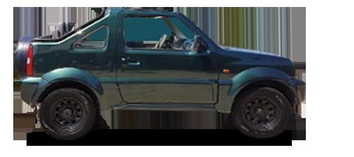 Suzuki Santana cabrio a noleggio a Pantelleria